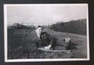 P/O Nixon, on leave (RAF Ouston) in 1944